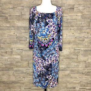 Joseph Ribkoff multicolour motif dress